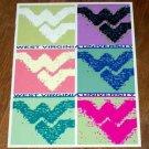 West Virginia University Mountaineers WVU pop art