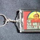 The 6 Six Million Dollar Man Blinking KeyChain COOL