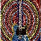 Amazing Electric Guitar Bottlecap mosaic Bar wall print