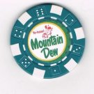 vintage Mountain Mt. Dew Casino Poker Chip