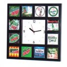 Histoy of Mt Mountain Dew soda pop Clock 12 pictures