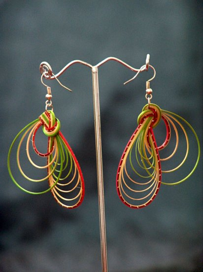 Colourful Handmade Hoop Gypsy Boho Hippie Earrings