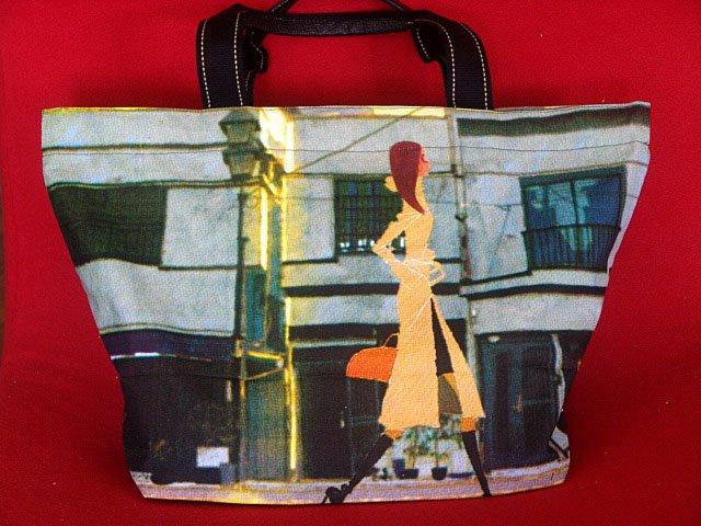 *Shopping Lady* Art Gym/shoulder/beach shopping tote bag