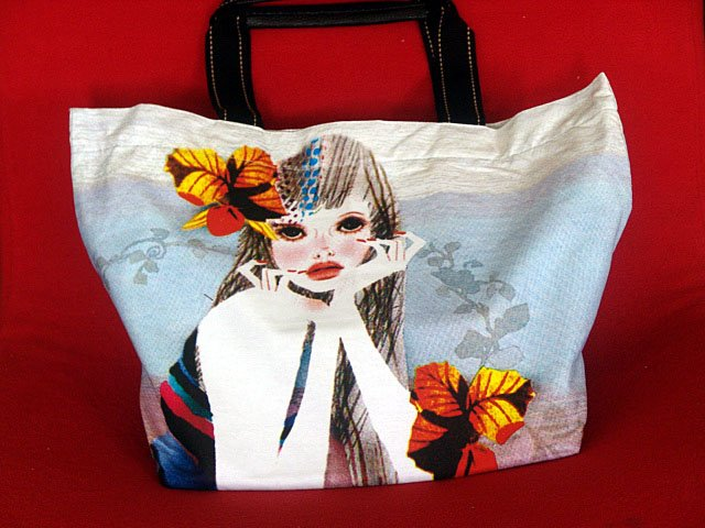 *Sweet Girl* Art Gym/shoulder/beach shopping tote bag