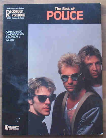 The Best of Police Music Book Sheet Music Guitar 1986