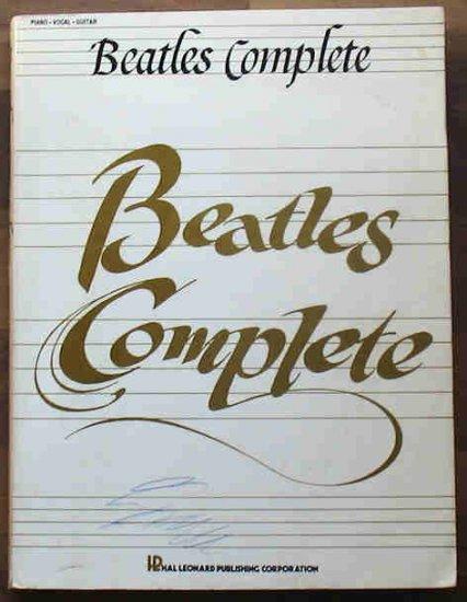 The Beatles Complete Music Book 500 pages 1987 Bonus Lennon Imagine