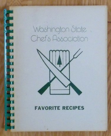 Vintage Spiral Washington State Chef's Assoc Cookbook 1976