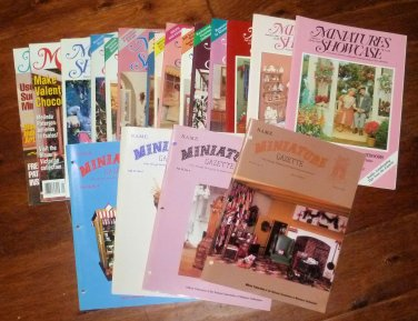 Vtg Miniature Showcase Magazines 87-93 and Miniature Gazette Mags 85-88 21 Mags