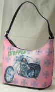 Petite Bucket Handbags with Front Motorcycle Design