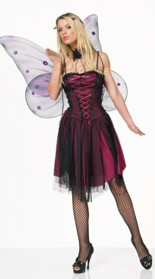 Lace & Mesh Nymph Dress - Costume