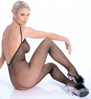Seamless Fishnet V-Back Body Stocking