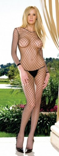 Lycra Long Sleeves Industrial Net Bodystocking