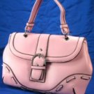 Laced Design Handbags with Rhinestone Buckle - Pink
