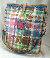Square Shaped Handbags with Trendy Plaid Design
