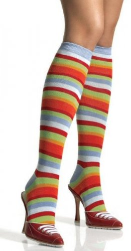 Rainbow Stripe Knee Highs Socks