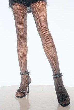 Glitter Lycra Fishnet Pantyhose