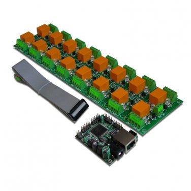 Internet/Ethernet 16 Relay Board - IP, SNMP, Web, Home Automation (JQC-3FC/T73)