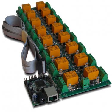 Internet/Ethernet 16 Relay Board - IP, SNMP, Web, Home Automation(RAS 24-15)