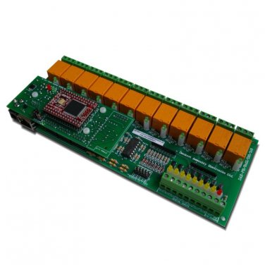 Ethernet 12 relay module - Web, TCP/IP, Telnet, HTTP API, E-mails, 12VDC