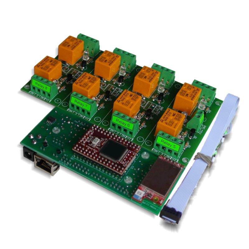 Wi-Fi Wireless Relay Board 8 Channels - Web, Telnet, HTTP API, E-mails 12VDC
