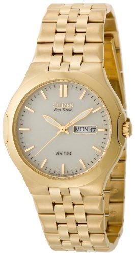 Citizen Eco-Drive Corso Gold Tone Men's Wrist Watch Model #BM8402-54P