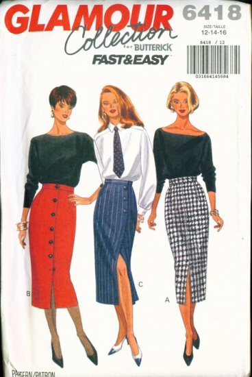 Butterick GLAMOUR Collection Plus Size Pattern #6418 12-16 UNCUT