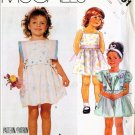 McCall's 1987 Pattern #3101 NANNETTE Children's Dress & Bib 4-5-6 UNCUT
