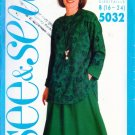 Butterick See & Sew Pattern #5032 Top & Skirt 16-18-20-22-24 UNCUT