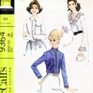 McCall's 9364 Vintage sewing pattern Sexy & Elegant Blouse Set 10/32.5 UNCUT
