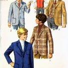 Vintage 60's Simplicity 8371 SPORTY Boys Jacket & Vest 10 UNCUT