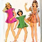 Vintage 70s Sewing Pattern Simplicity 5440 Girls Mini Dress and Bikini Pants Size 8