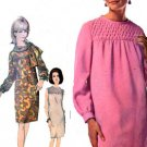 Vintage 60s Designer Fashion Simplicity 6778 Slim dress with Smocked Yoke Size 14