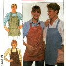 Vintage 80s Simplicity 9245 Yes I Can EASY Apron Sewing Pattern One Size UNCUT