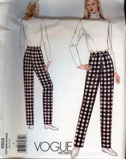 Vogue 1003 Misses Fitting Shell Sloper Pants Size 8 UNCUT