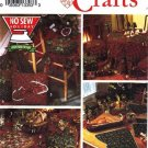 Simplicity Craft Pattern 8160 - Christmas (No Sew) Treeskirt, Mats, Pillow + UNCUT