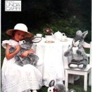 Vogue 8866 OOP Stuffed Bunny Rabbits Pattern Linda Carr UNCUT