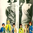 Vintage 60s Butterick 2624 SHIFT Dress w/ COAT Jacket Sewing Pattern Size 12 B32