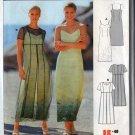 Burda 8910 Close Fitting Spaghetti Strap Dress with Overdress Size 10-22 UNCUT