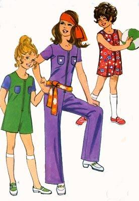 Vintage 70s Simplicity 9390 Girls RETRO Jiffy jumpsuit Size 6