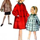 Vintage 60s Simplicity 5147 Girls Hat and Coat in Two lengths Sewing Pattern Size 12