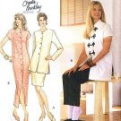 Simplicity 8919 Christie Brinkley Collection Dress,Top, Slim pants or skirt Size 10-14 UNCUT