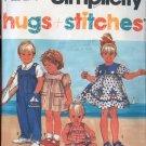 Simplicity 7702 Nautical Sailor Dress or Overalls/Sunsuit Size 1/2 -2 UNCUT