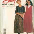Stitch and Save 7753 EASY Misses Jumper Sewing Pattern Size 8-14 UNCUT
