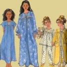 Simplicity 8488 Girls' sleepwear Gown, Robe and Pajamas Size 8-14 UNCUT
