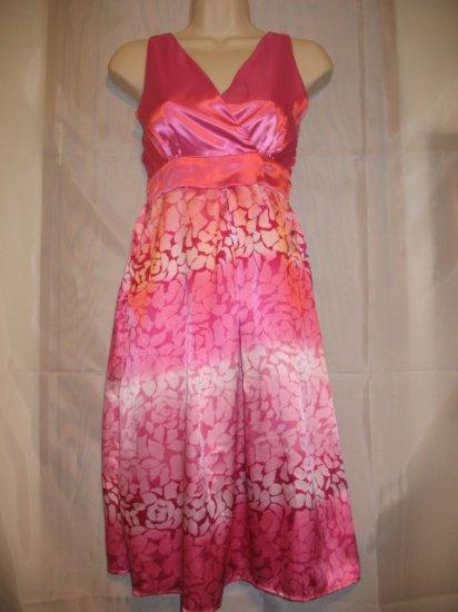 Pink Sleeveless Elasticated Back Top Dress