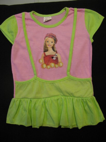 New Girls Dress Jumper Style with Barbie Image