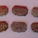 10 Vintage Kentucky Twist Tobacco Pouch Tags