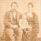 BLOWERS, SIDNEY & SARAH HOGANBONE, Identified photograph,  Afton, Chenango, NY.