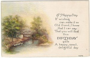 BURDICK, CLARA & HAZEL, Linklaen, Chenango, NY., 2 id'd Birthday postcards
