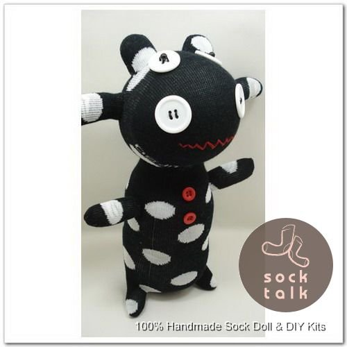 Handmade Sock Monkey Cow Cattle Stuffed Animals Doll